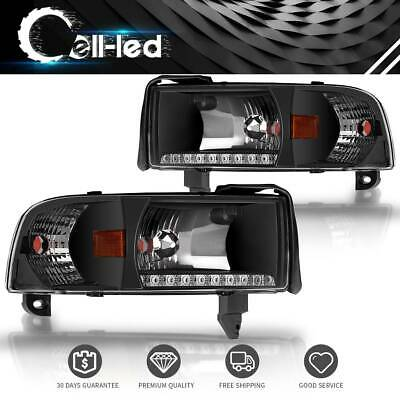 Headlights Assembly Pair For 94-01 Dodge Ram 1500 2500 3500 Pickup Headlamps