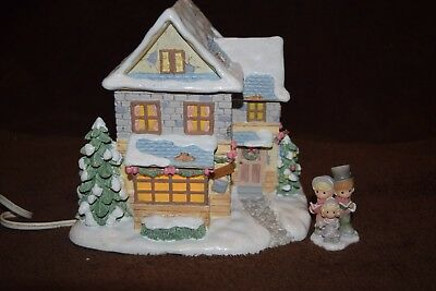 "Hawthorne Village-Precious Moments ""Bob Cratchit's House"" Lighted"