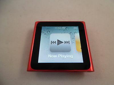 Apple iPod nano 6th Generation Red (16 GB) 16GB A1366 Touch Radio MP3 Player WOW