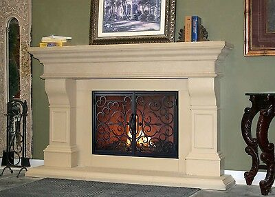 Contemporary Cast Stone Mantel