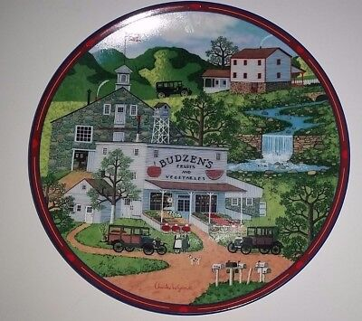 Vintage Plate CHARLES WYSOCKI PEPPERCRICKET GROVE Bradford Exchange Collectible