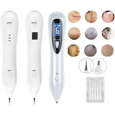 AU Pro Laser Mole, Freckle, Wart, Spot Removal Tool Remover Eraser Pen +5 Needle