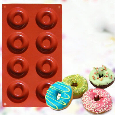 Silicone Donut Mould Muffin Cupcake NonStick Doughnut Baking Mold Pan Tray L0F7