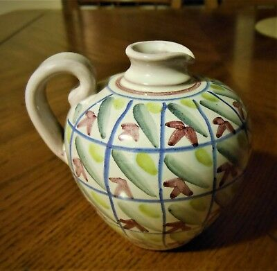 Swedish Laholm small ceramic pitcher/oil carafe in perfect condition