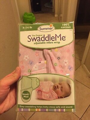Summer Infant SwaddleMe Adjustable Infant Pink Wrap Small/Medium 7 - 14 lbs