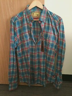 Barbour International Steve McQueen West Check Shirt, Chambray MSH3990, IU Shirt