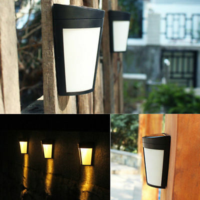AU 6LED Solar Power PIR Motion Sensor Wall Light Outdoor Garden Waterproof Lamp