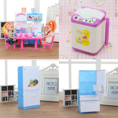 Dollhouse Miniature Refrigerator Cook Furniture Accessories For Barbie Toys Gift