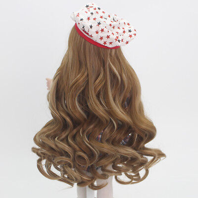 "37cm Brown Hair Replacement Wig for 18"" American Girl Dolls Hairpiece Making"