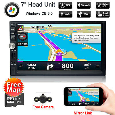 7'' inch No DVD Car Stereo Radio GPS Navigation Mirror Link USB/SD Touch Screen