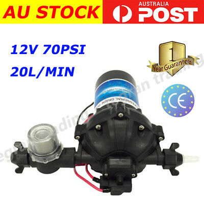 2017 New 12v Washdown Pump 20L/min 70 PSI Deck Wash Caravan Boat-1 Year Warranty