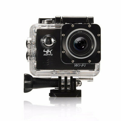 4K HD WiFi Sports Camera 16MP 170 Degree Wide Angle Diving Camera + 2 Batteries