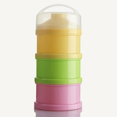 AU Baby Formula Dispenser 3 Layer Container PP Milk Powder Feeding Bottle Boxes