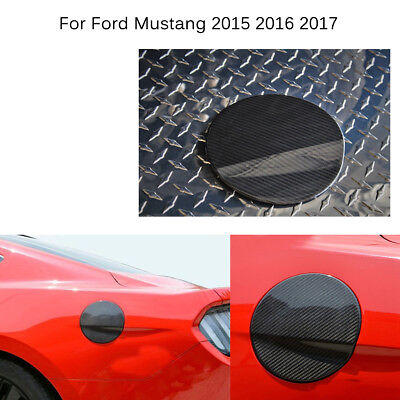 Car Gas Oil Fuel Tank Carbon Fiber Cover Cap For Ford Mustang 2015 2016 2017