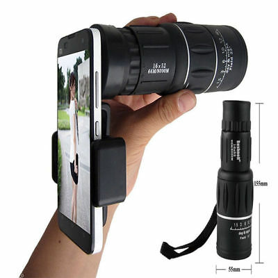 US For Universal Cell Phone Optical Zoom Camera Clip Telescope Microscope Lens