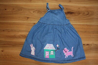 Blue zoo girls dungarees dress 18-24 months *I'll combine postage