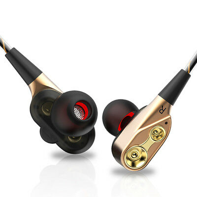 HIFI Dual Dynamic Driver In-Ear Headphone Earphone Headset Earbuds With Mic BRD4