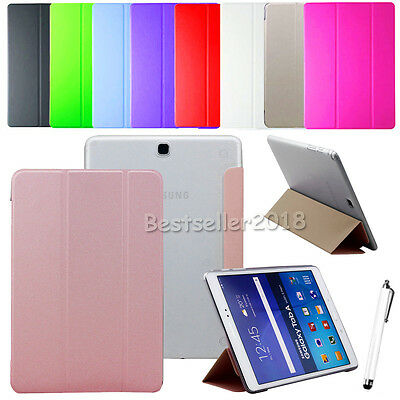 """Smart Slim Leather Cover Case For Samsung Galaxy Tab A A6 7"""" 8"""" 10.1"""" T280/T580"""