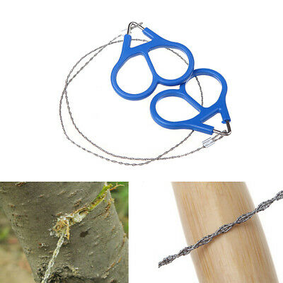Stainless Steel Ring Wire Camping Saw Rope Outdoor Survival Emergency Tools O3N