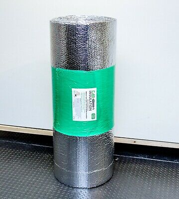1m x 10m Double Foil Bubble Insulation 4mm Heat Reflective Thermal Bulk Roll UK