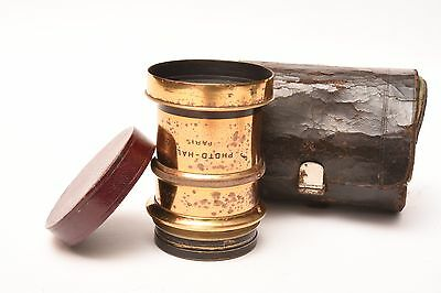 Vintage brass lens Photo - Hall. f/8 #11.234 with case and front cap