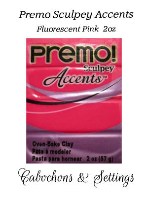 FLUORESCENT PINK Premo Sculpey Accents Polymer Clay