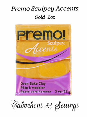 GOLD Premo Sculpey Accents Polymer Clay