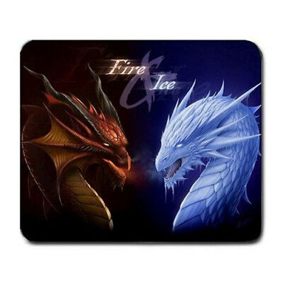 Fire and Ice Dragons Large Mousepad Mouse Pad Great Gift Idea