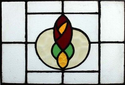 Pretty Victorian English Rose Antique Stained Glass Window