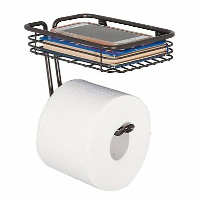 Wall Mounted Toilet Paper Holder Bathroom Rack Tissue Roll Storage Bronze
