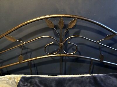 Antique Bronze Iron Metal Day Bed Frame Set w Trundle Bunk Twin Size French