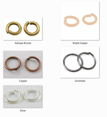 10 gms - Round jump rings 5mm Diameter, 1mm thick - approx 120 rings