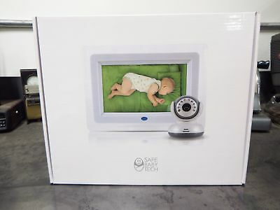 "Safe Baby Tech LCD Baby Monitor 7"" & Camera Full Color Night Vision 2 Way Talk"