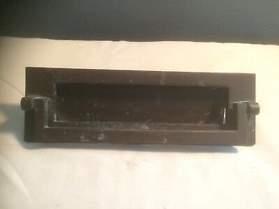 Antique Bronze Letter Box plate  nice &  heavy