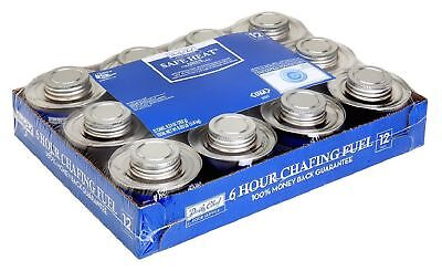 12 Pack Chafing Fuel Dish Warmer Fire Flame Power Pad Gel Safety Wick 6 HR Burn