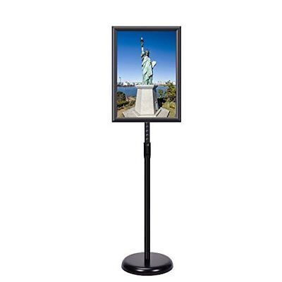 Adjustable Pedestal Sign Holder Floor Stand With Telescoping Post 11 X 17 Inches