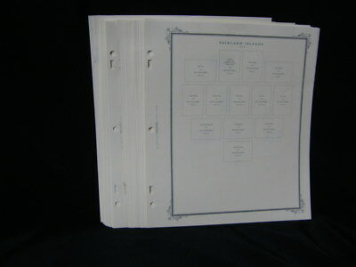 Scott 2 post 3 ring  pages. FALKAND ISLANDS 1972 to 1985 32 PAGES