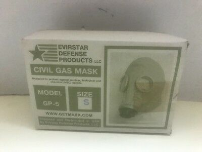 Evirstar SMALL Russian GP-5, Civil Gas Mask-Nuclear, Biological, Chemical - NEW