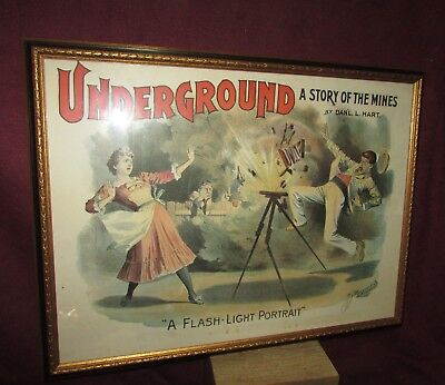 Antique Show Poster Underground  Mining Photography Interest Morgan Co Cleveland