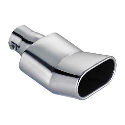 (3024/C) Oval CHROME S/Steel Exhaust Tailpipe Trim fits FORD FOCUS