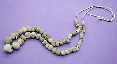 Ancient Egyptian clay and faience bead necklace 664-332 BC