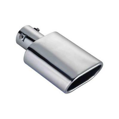 (704) OVAL High Chrome Steel Exhaust Tailpipe Tip Trim fits LAND ROVER DEFENDER
