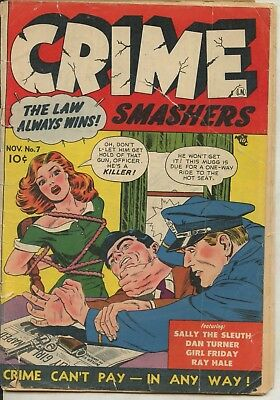 Crime Smashers 7, The Law Always Wins Collectors Comic Book 1951 Volume 1 #7