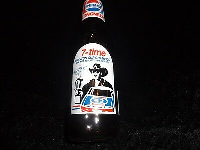 Richard Petty 7 Time Winston Cup Pepsi Cola Collectible 12 Oz Glass Bottle OLD