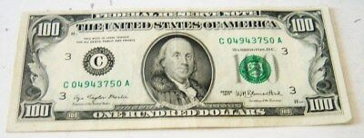 41-year-old  $100 Federal Reserve Note, 1977
