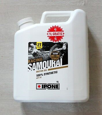 Huile Moteur Ipone Samourai 100% Synthese Racing- 5L (Moto 2T)