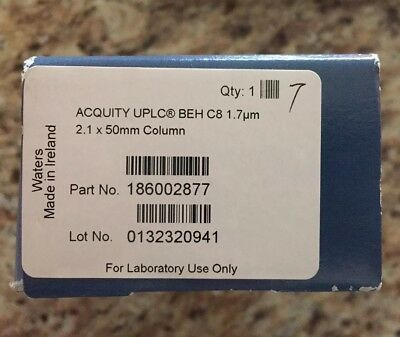 New Sealed Waters HPLC Column Acquity UPLC BEH C8 2.1x 50mm 1.7um P/N 186002877