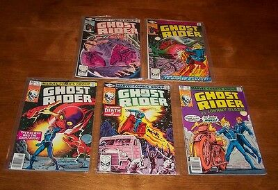 1979 Ghost Rider Marvel Comic Book Lot #41-44