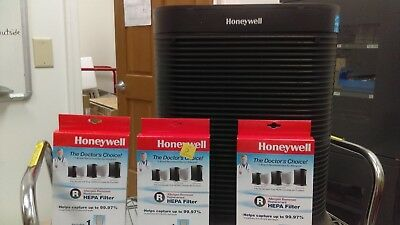 Honeywell HP300 Air Purifier w/ 3 New Allergen Remover Replacement HEPA Filters