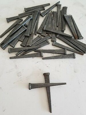 "Lot of 190 Antique Square Straight Barn Nails 2.5"" Steampunk Rustic Cut Nails"